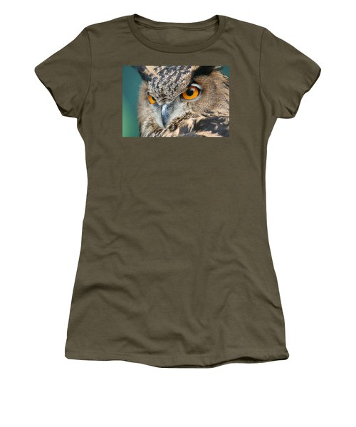 Women's T-Shirt (Junior Cut) featuring the photograph Orange Crush by Laddie Halupa
