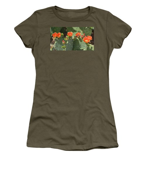 Orange Dream Cactus Women's T-Shirt (Athletic Fit)