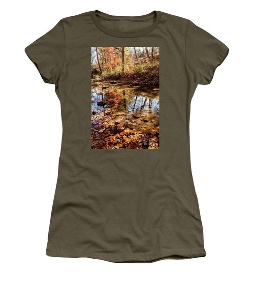 Women's T-Shirt (Junior Cut) featuring the photograph Orange Leaves by Iris Greenwell