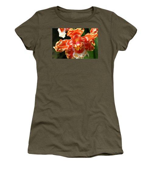Orange Orchid Women's T-Shirt (Athletic Fit)