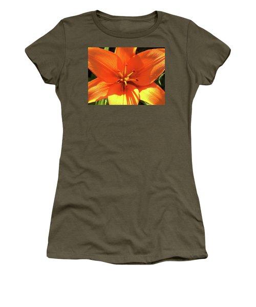 Women's T-Shirt featuring the photograph Orange Pop by Cris Fulton