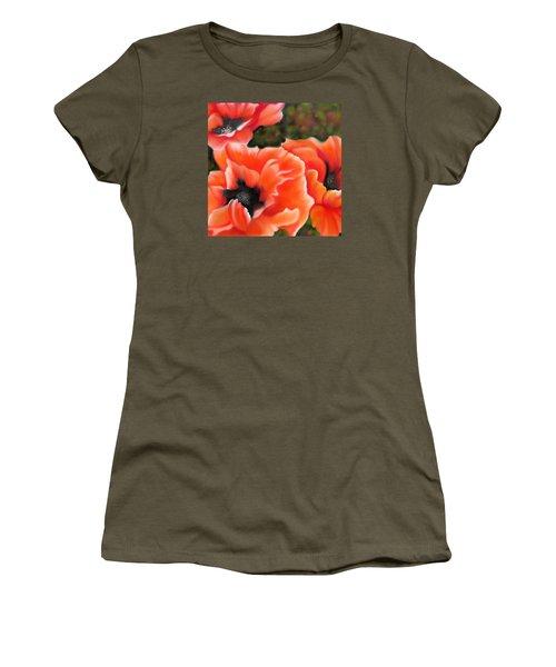 Orange Poppies Women's T-Shirt