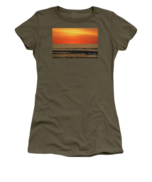 Orange Sunset On The Jersey Shore Women's T-Shirt
