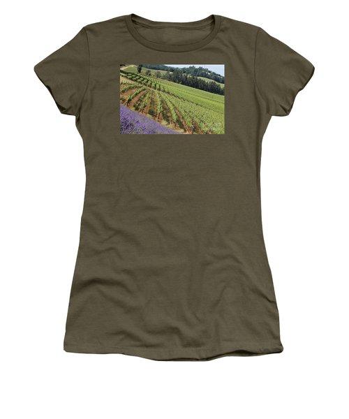 Oregon Vineyard Women's T-Shirt (Athletic Fit)