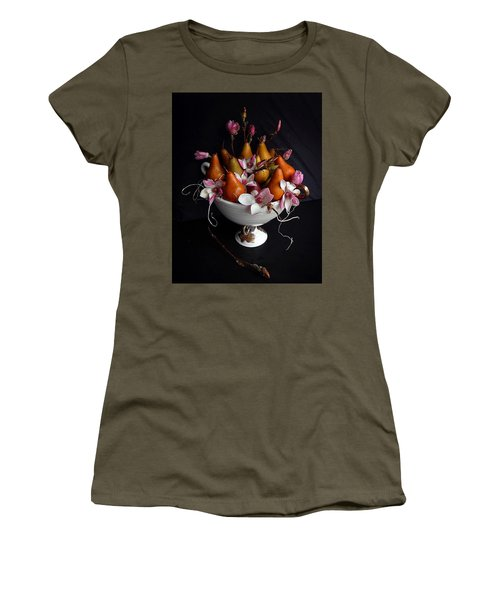 Organic Bosc Pears And Magnolia Blossoms Women's T-Shirt