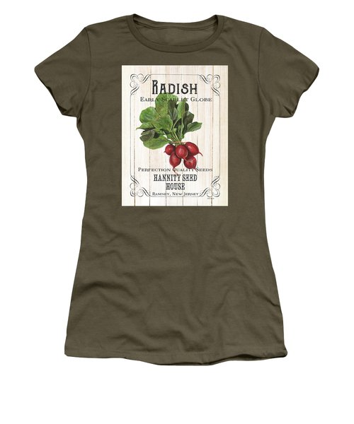 Organic Seed Packet 3 Women's T-Shirt (Junior Cut) by Debbie DeWitt