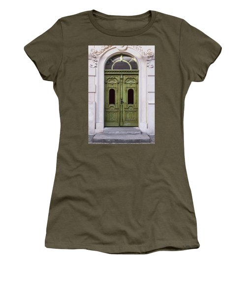 Ornamented Gates In Olive Colors Women's T-Shirt (Junior Cut) by Jaroslaw Blaminsky
