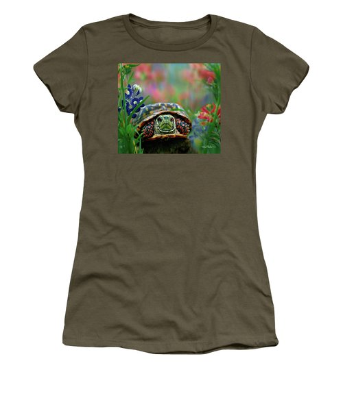 Ornate Box Turtle Women's T-Shirt (Athletic Fit)