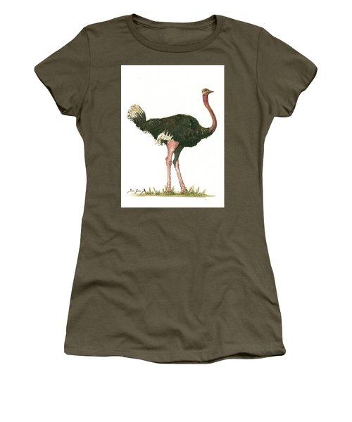 Ostrich Bird Women's T-Shirt (Junior Cut)