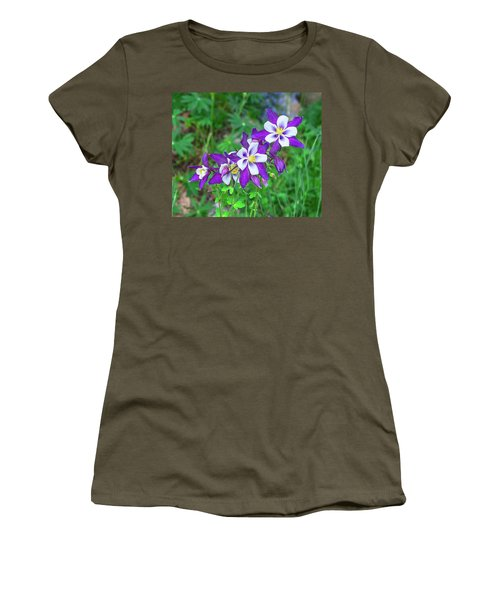 Our Gorgeous State Flower, Colorado Columbine  Women's T-Shirt (Athletic Fit)