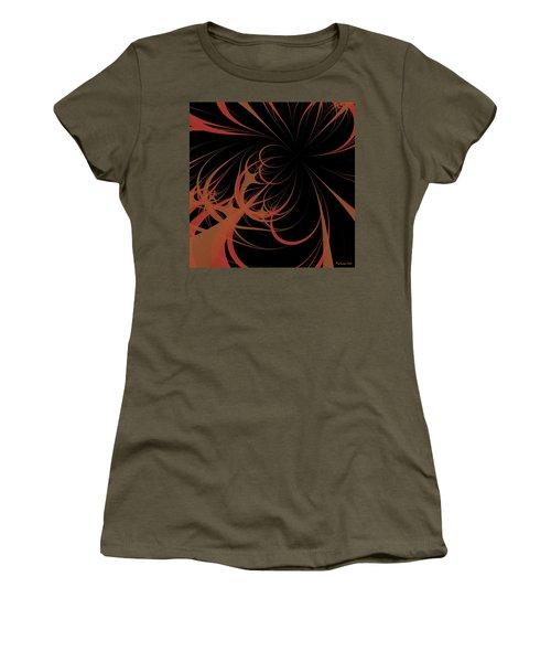 Women's T-Shirt (Junior Cut) featuring the digital art Outbreak by Dragica  Micki Fortuna