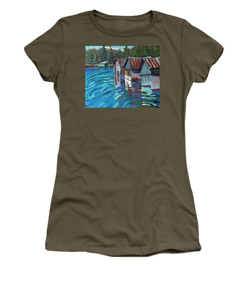 Outlet Row Of Boat Houses Women's T-Shirt
