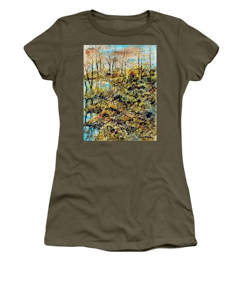 Outside Trodden Paths Women's T-Shirt (Athletic Fit)