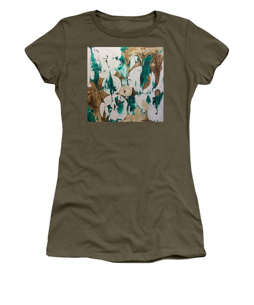 Over And Under Women's T-Shirt (Junior Cut) by Pat Purdy