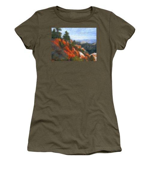 Overlook Women's T-Shirt (Junior Cut) by Gail Kirtz