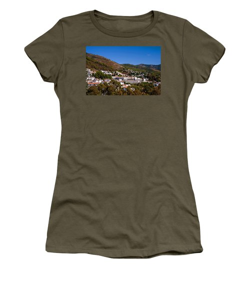 Women's T-Shirt (Junior Cut) featuring the photograph Overview Of Mijas Village by Jenny Rainbow