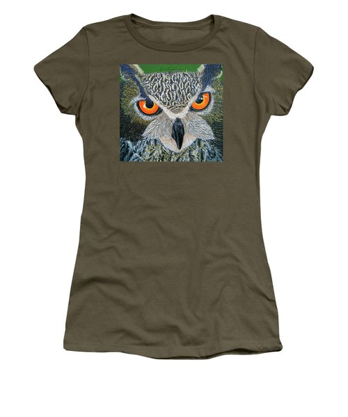 Owl Capone Women's T-Shirt (Athletic Fit)
