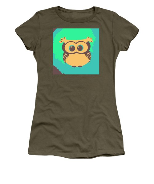 Owl In The Woods Women's T-Shirt (Athletic Fit)