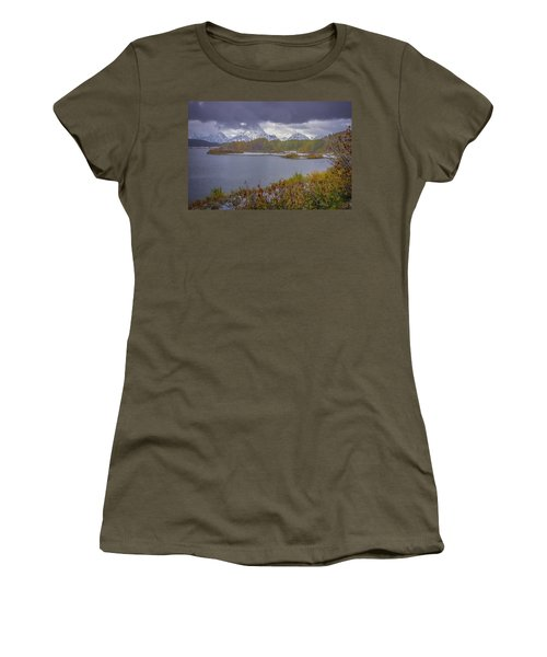 Oxbow Bend Fall Snowfall Women's T-Shirt (Athletic Fit)