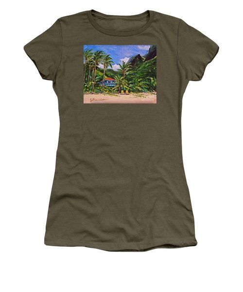 P F Women's T-Shirt (Junior Cut) by Jennifer Beaudet