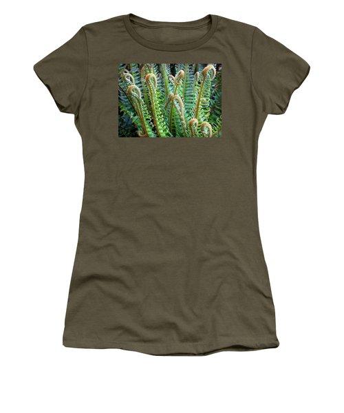 Women's T-Shirt (Junior Cut) featuring the photograph Pacific Ferns by Martin Konopacki