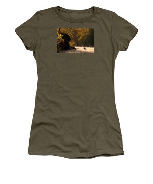 Paddling In Autumn Women's T-Shirt (Junior Cut) by Robert Charity