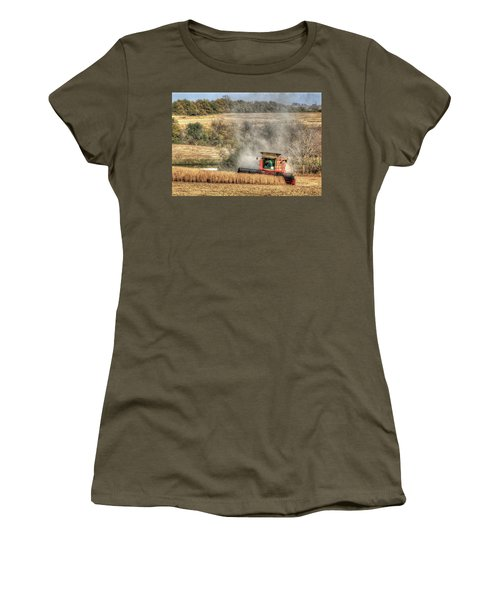 Page County Iowa Soybean Harvest Women's T-Shirt (Athletic Fit)
