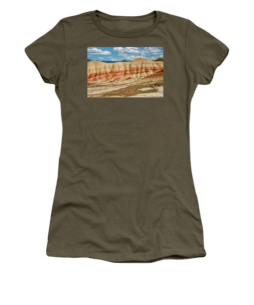 Women's T-Shirt (Junior Cut) featuring the photograph Painted Hills And Afternoon Sky by Greg Nyquist