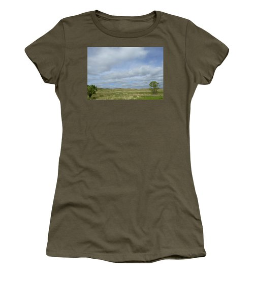 Women's T-Shirt (Junior Cut) featuring the photograph Painted Plains by JoAnn Lense