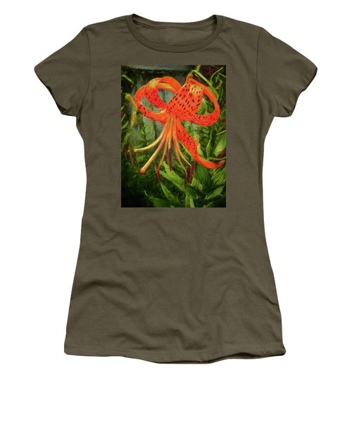 Painted Tiger Women's T-Shirt (Athletic Fit)