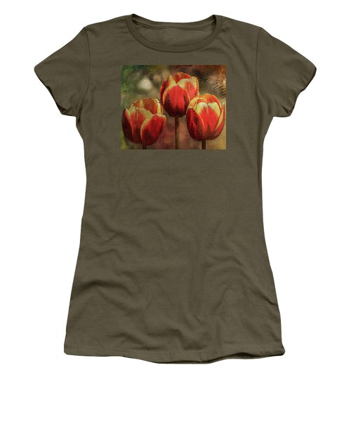 Painted Tulips Women's T-Shirt (Athletic Fit)