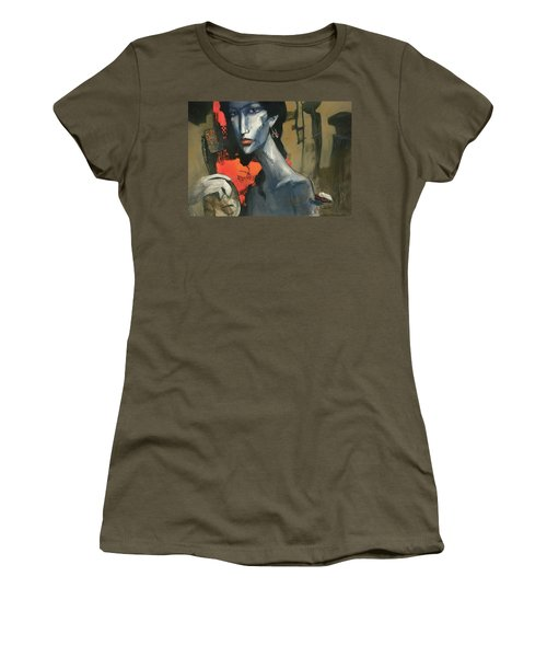 Painting Of The Lady _ 1 Women's T-Shirt (Junior Cut) by Behzad Sohrabi