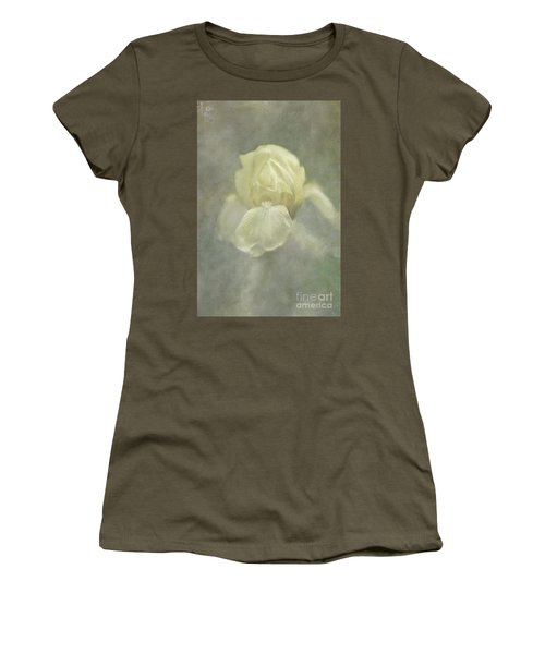 Women's T-Shirt (Athletic Fit) featuring the digital art Pale Misty Iris by Lois Bryan