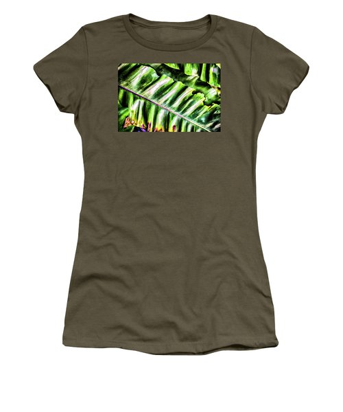 Palm Fronds Up Close Women's T-Shirt (Athletic Fit)