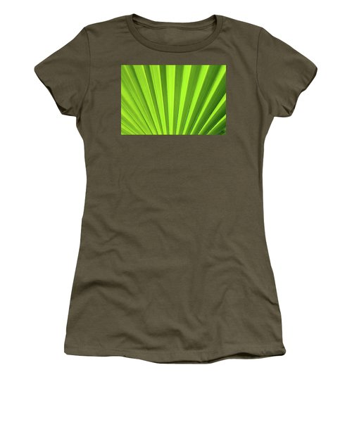 Women's T-Shirt (Athletic Fit) featuring the photograph Palm Leaf Abstract by Denise Bird