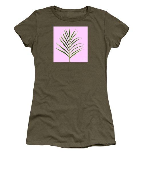 Palm Leaf Women's T-Shirt (Junior Cut) by Tony Cordoza