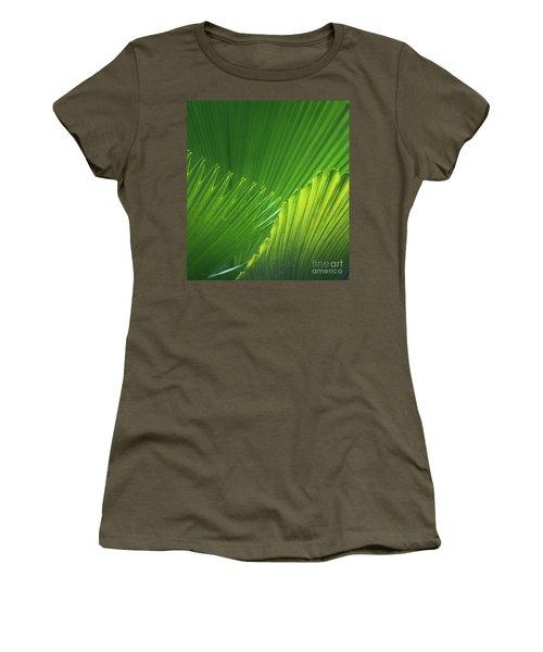 Palm Leaves Women's T-Shirt (Junior Cut) by Atiketta Sangasaeng