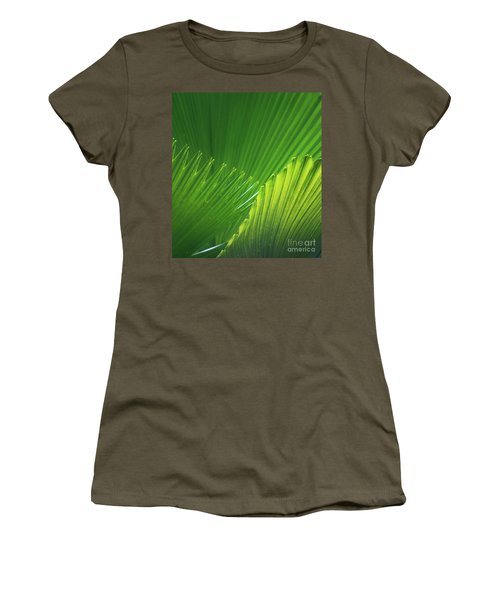 Palm Leaves Women's T-Shirt (Athletic Fit)