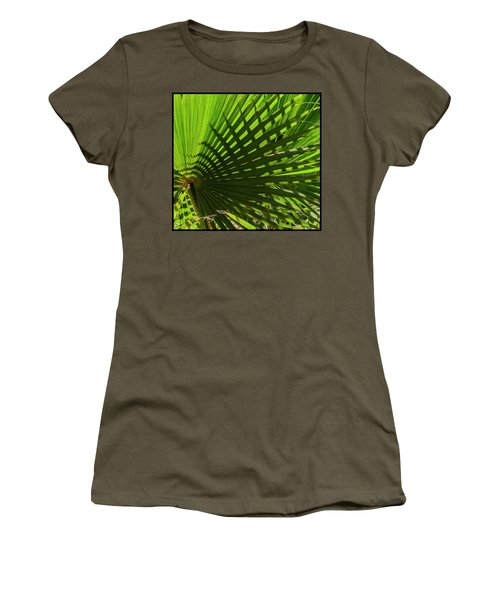 Women's T-Shirt (Athletic Fit) featuring the photograph Palm Pattern No.1 by Mark Myhaver