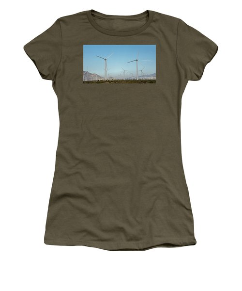 Palm Springs Windfarm Women's T-Shirt (Athletic Fit)
