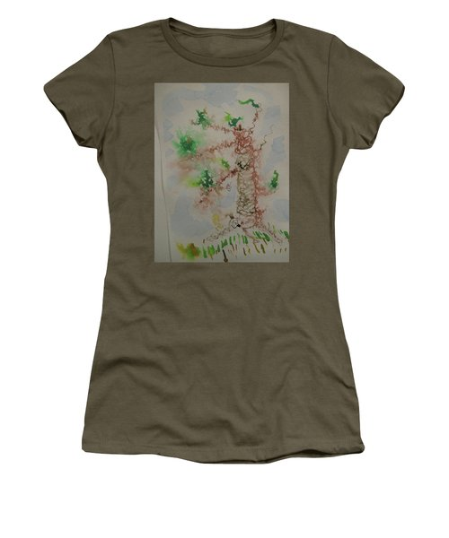 Palm Tree Women's T-Shirt (Junior Cut) by AJ Brown