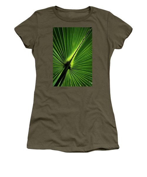 Palm Tree With Back-light Women's T-Shirt (Athletic Fit)