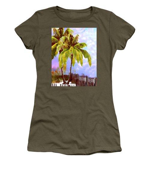 Palms With Sea Oats Women's T-Shirt