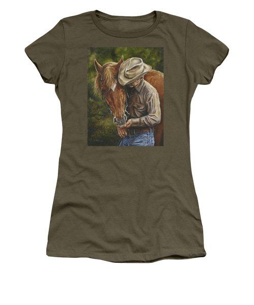 Pals Women's T-Shirt (Junior Cut) by Kim Lockman