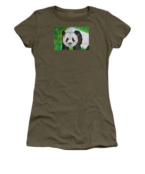 Panda Women's T-Shirt (Junior Cut)