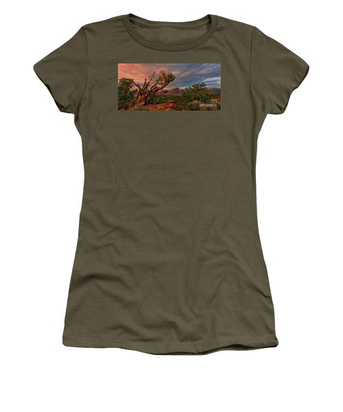 Panorama Storm Back Of Zion Near Hurricane Utah Women's T-Shirt