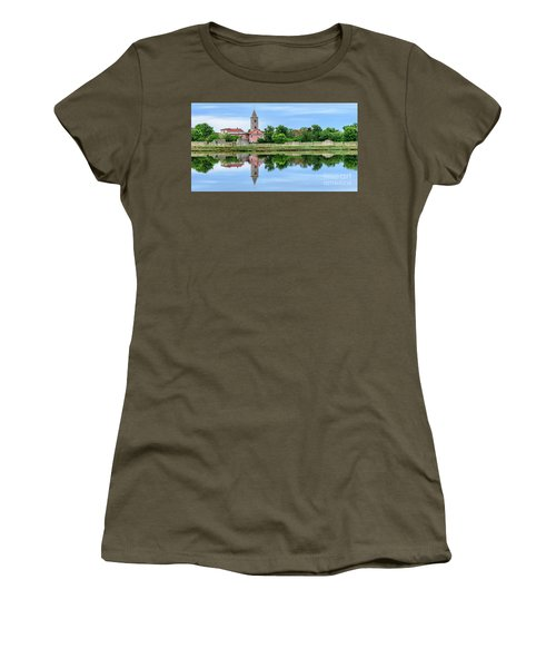 Panoramic Reflections Of Nin, Croatia Women's T-Shirt