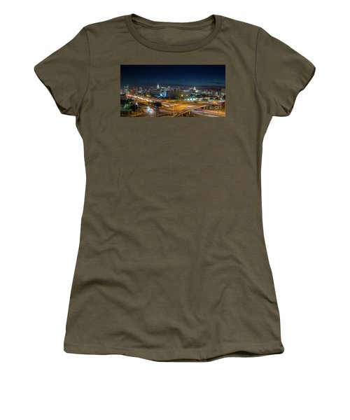 Panoramic View Of Busy Austin Texas Downtown Women's T-Shirt