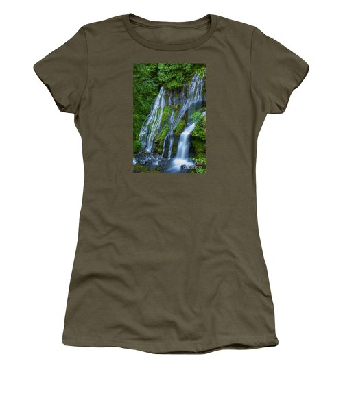 Panther Creek Falls Summer Waterfall 1 Women's T-Shirt