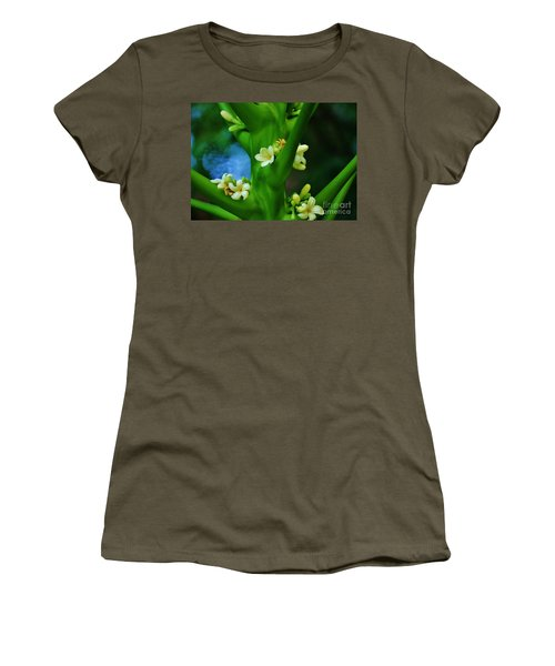 Papaya Blossoms Women's T-Shirt (Athletic Fit)